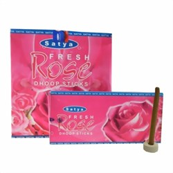 Bild von Satya Fresh Rose Räuchersticks Dhoop Sticks
